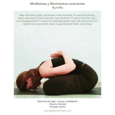 Movimientos y meditaciones conscientes #JUNTOS  en Zoom